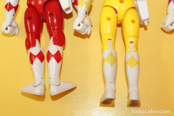 Figuras y Muñecos Power Rangers: LOTE DE 4 POWER RANGERS DE BANDAI MIDEN 20 CMS - AÑO 94 - Foto 15 - 98613547