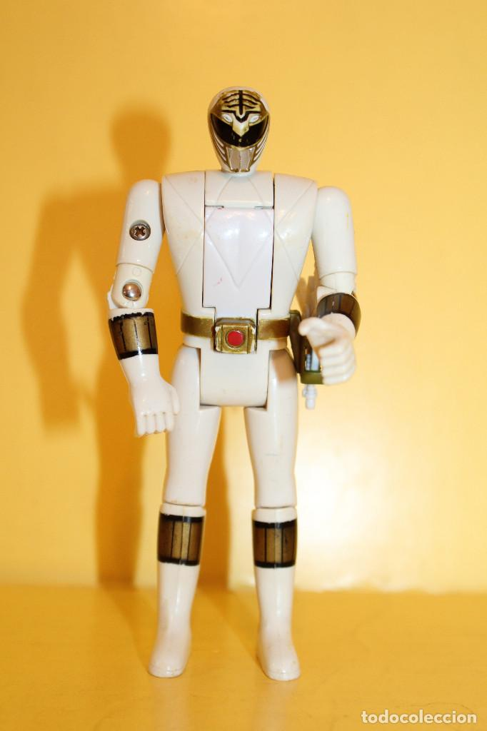 POWER RANGERS COLOR BLANCO CABEZA GIRATORIA DE BANDAI - AÑO 93 (Juguetes - Figuras de Acción - Power Rangers)