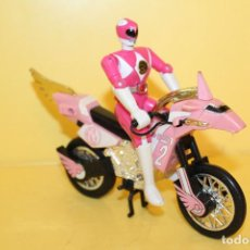 Figurines et Jouets Power Rangers: MOTO TRUNDER BIKE CON POWER COLOR ROSA DE BANDAI - AÑO 93. Lote 98619431