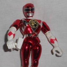 Figuras y Muñecos Power Rangers: FIGURA DE POWER RANGER ROJO METALIZADO. Lote 128556243