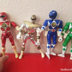 Figuras y Muñecos Power Rangers: LOTE 4 UDS MUÑECO POWER RANGERS RANGER BANDAI 1995 ANTIGUO MUÑECOS 20 CM JUGUETE FIGURA FIGURAS. Lote 99686835