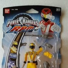 Figuras y Muñecos Power Rangers: POWER-RANGERS-RPM-12CM-FULL-THROTTLE-BEAR-RANGER-YELLOW-BRAND-NEW VERY RARE. Lote 103767227