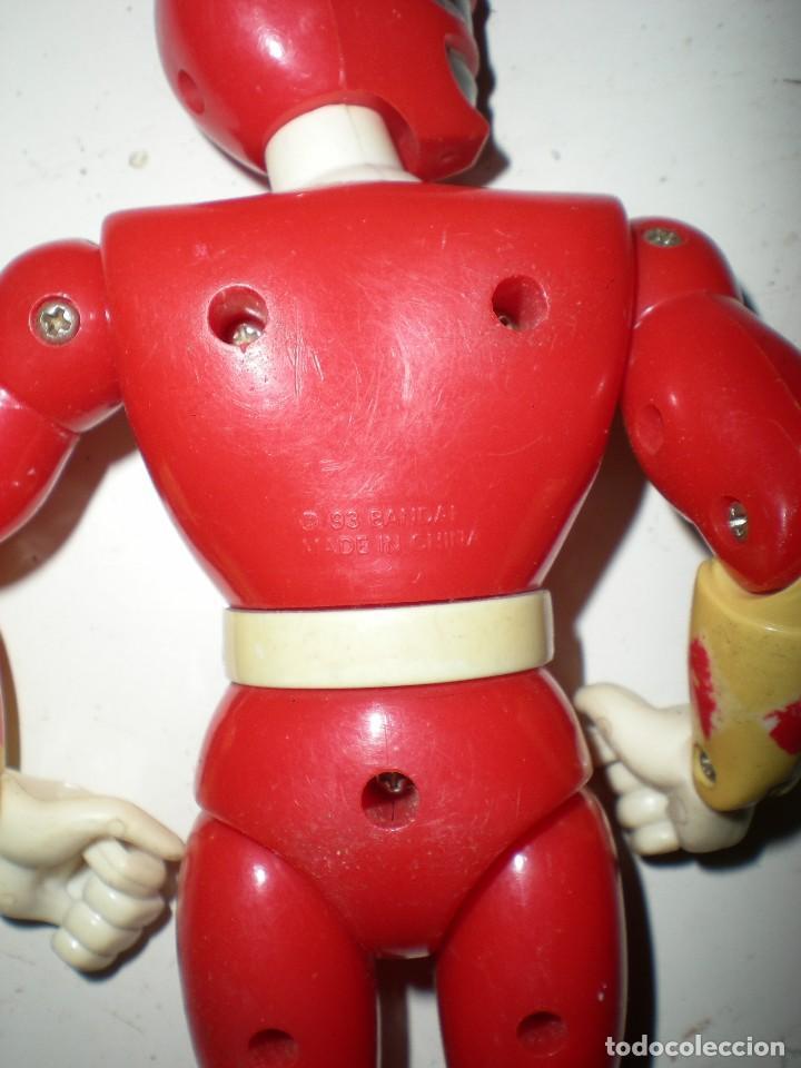 Figuras y Muñecos Power Rangers: ANTIGUO POWER RANGERS ROJO TOTALMENTE ARTICULADO 21 cm AÑO 93 BANDAI ,ARTICULADO PIERNAS RODILLAS PI - Foto 2 - 107750823