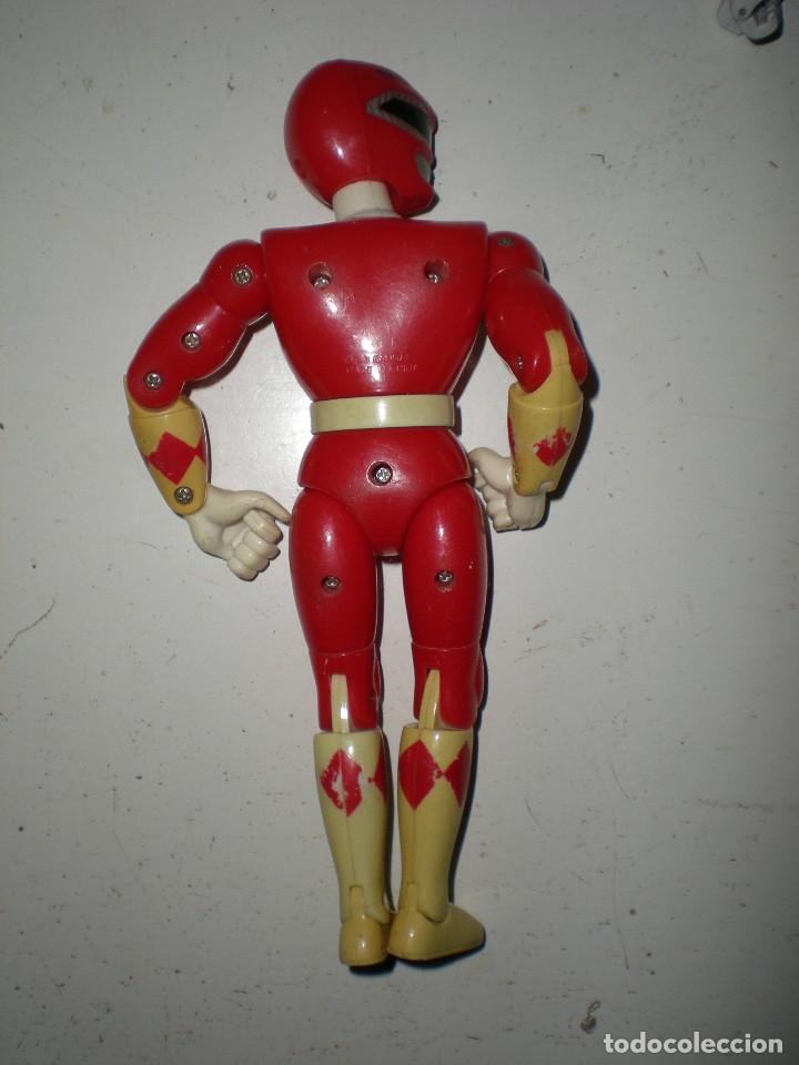 Figuras y Muñecos Power Rangers: ANTIGUO POWER RANGERS ROJO TOTALMENTE ARTICULADO 21 cm AÑO 93 BANDAI ,ARTICULADO PIERNAS RODILLAS PI - Foto 4 - 107750823