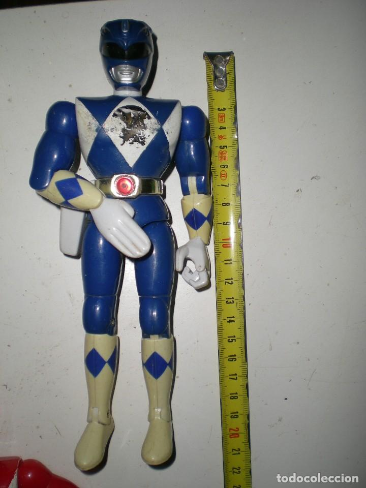 ANTIGUO POWER RANGERS AZUL TOTALMENTE ARTICULADO 21 CM AÑO 94 BANDAI ,ARTICULACIONES FUERTES (Juguetes - Figuras de Acción - Power Rangers)