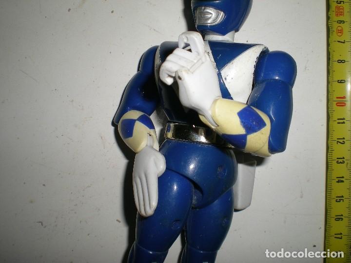 Figuras y Muñecos Power Rangers: ANTIGUO POWER RANGERS AZUL TOTALMENTE ARTICULADO 21 cm AÑO 94 BANDAI ,ARTICULACIONES FUERTES - Foto 4 - 107751015