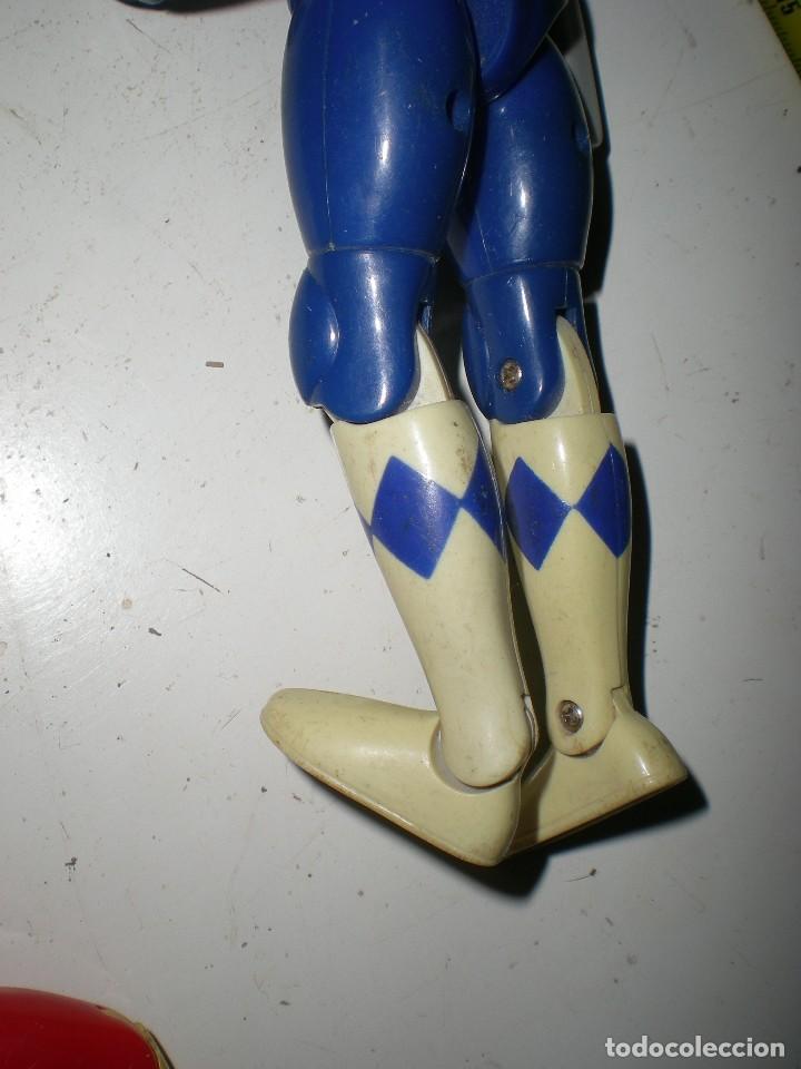 Figuras y Muñecos Power Rangers: ANTIGUO POWER RANGERS AZUL TOTALMENTE ARTICULADO 21 cm AÑO 94 BANDAI ,ARTICULACIONES FUERTES - Foto 5 - 107751015