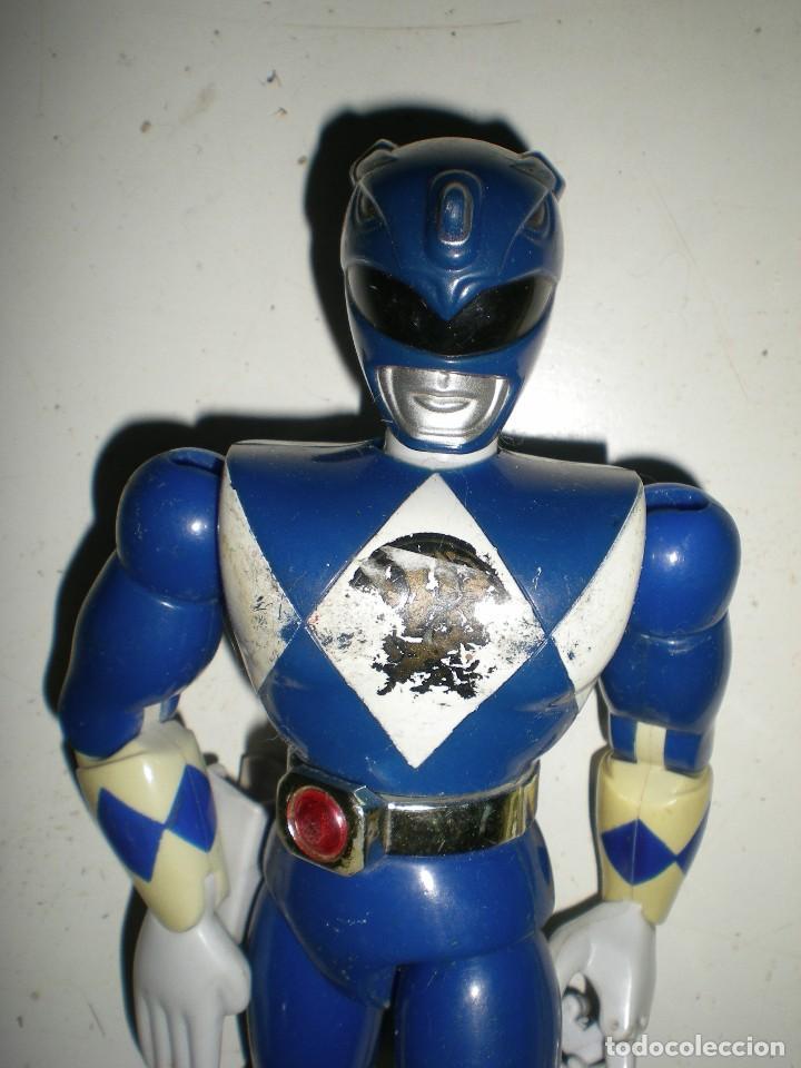 Figuras y Muñecos Power Rangers: ANTIGUO POWER RANGERS AZUL TOTALMENTE ARTICULADO 21 cm AÑO 94 BANDAI ,ARTICULACIONES FUERTES - Foto 6 - 107751015
