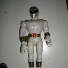 Figuras y Muñecos Power Rangers: ANTIGUO POWER RANGERS BLANCO TOTALMENTE ARTICULADO 21 CM AÑO 93 BANDAI ,ARTICULACIONES FUERTES. Lote 107751279
