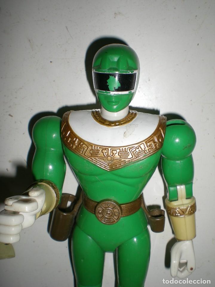 Figuras y Muñecos Power Rangers: ANTIGUO POWER RANGERS VERDE TOTALMENTE ARTICULADO 21 cm AÑO 96 BANDAI ,ARTICULACIONES FUERTES - Foto 2 - 121943475
