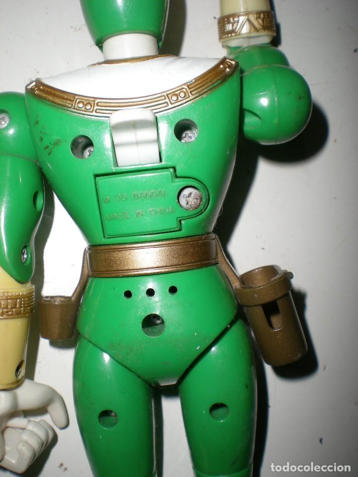 Figuras y Muñecos Power Rangers: ANTIGUO POWER RANGERS VERDE TOTALMENTE ARTICULADO 21 cm AÑO 96 BANDAI ,ARTICULACIONES FUERTES - Foto 4 - 121943475