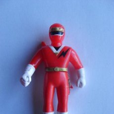 Figuras y Muñecos Power Rangers: POWER RANGER ROJO GOMA Y PLASTICO ARTICULADO. Lote 109250563