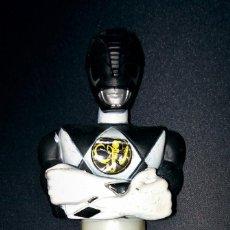 Figuras y Muñecos Power Rangers: FIGURA BUSTO POWER RANGER NEGRO OFICIAL 1993 SABAN TAPA TUBO CARAMELOS MUY RARO MAMUT POWER RANGERS. Lote 112657915