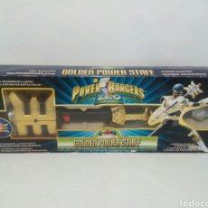 Figuras y Muñecos Power Rangers: POWER RANGERS ZEO GOLDEN EN POWER STAFF. Lote 113235078