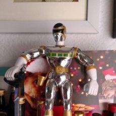 Figuras y Muñecos Power Rangers: POWER RANGER PLATEADO CON ARMA DE BANDAI 1998 MÁS OTRO DE REGALO. Lote 114464667