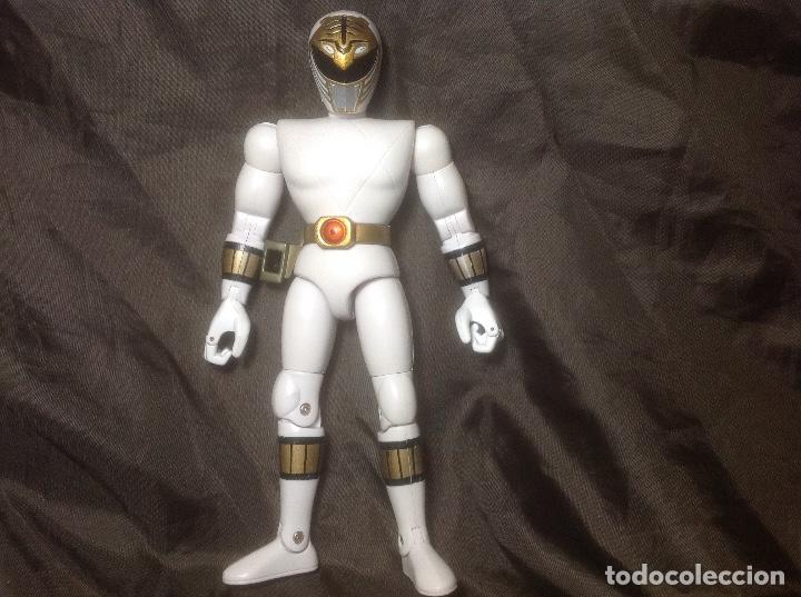 FIGURA POWERS RANGERS BLANCO BANDAI 93 REPINTADO CASCO Y HEBILLA (Juguetes - Figuras de Acción - Power Rangers)
