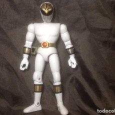 Figuras y Muñecos Power Rangers: FIGURA POWERS RANGERS BLANCO BANDAI 93 REPINTADO CASCO Y HEBILLA. Lote 115075527