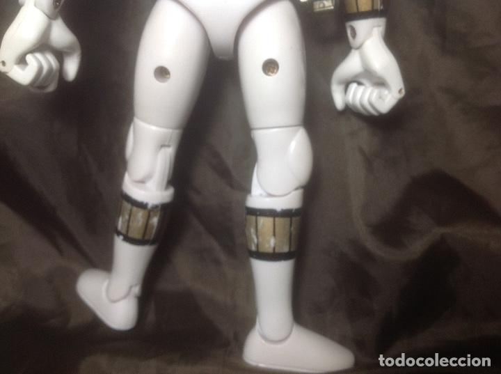 Figuras y Muñecos Power Rangers: Figura Powers Rangers Blanco Bandai 93 REPINTADO CASCO Y HEBILLA - Foto 7 - 115075527