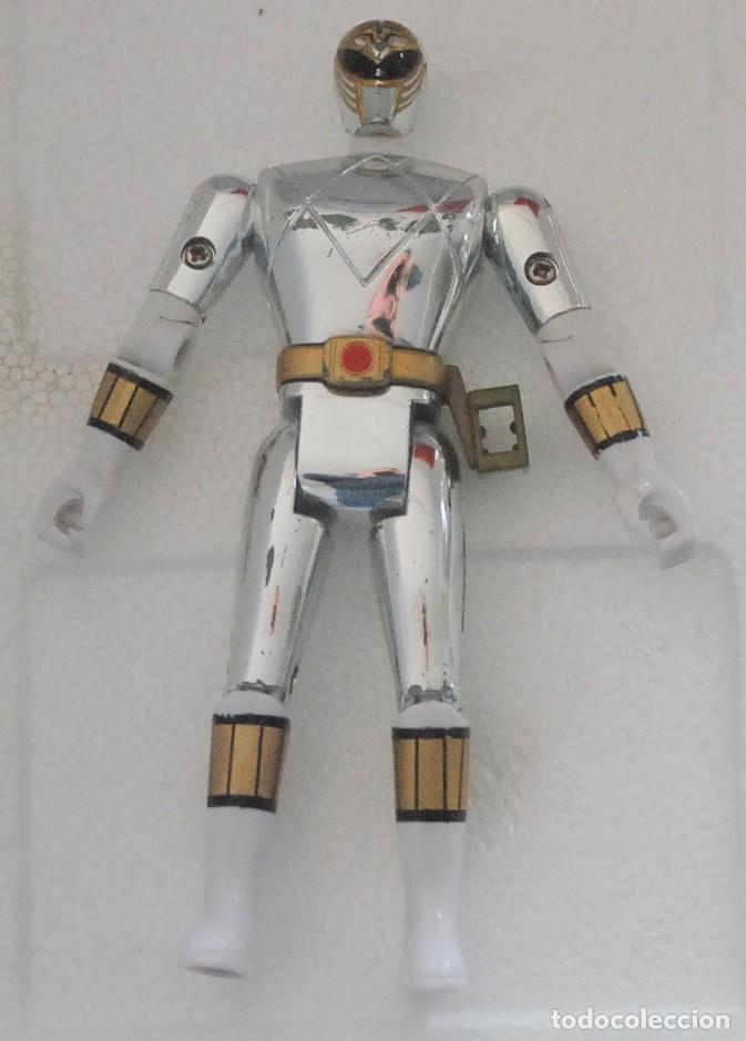 POWER RANGERS PLATEADO BLANCO 1995 BANDAI (Juguetes - Figuras de Acción - Power Rangers)