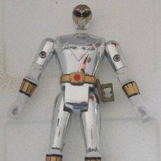 Figuras y Muñecos Power Rangers: POWER RANGERS PLATEADO BLANCO 1995 BANDAI. Lote 115621239