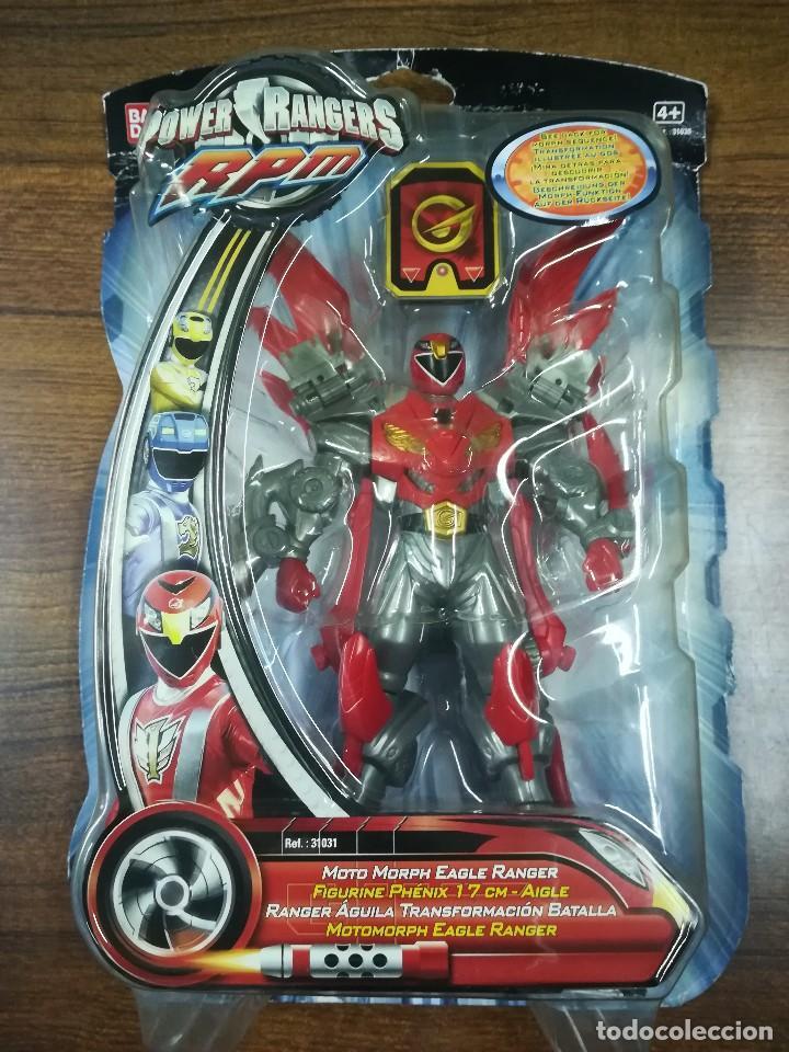 31030 BANDAI POWER RANGERS RPM - MOTOMORPH EAGLE RANGER FIGURA 17 CM. MOTO MORPH BLISTER SIN ABRIR (Juguetes - Figuras de Acción - Power Rangers)