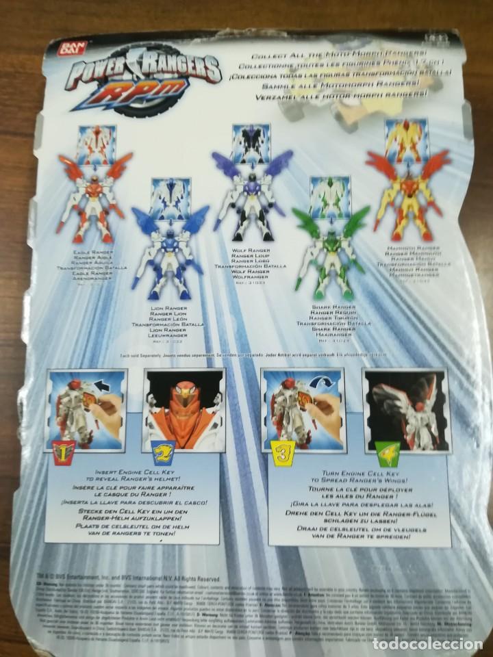 Figuras y Muñecos Power Rangers: 31030 BANDAI Power Rangers RPM - Motomorph EAGLE Ranger FIGURA 17 CM. MOTO MORPH BLISTER SIN ABRIR - Foto 3 - 121243435