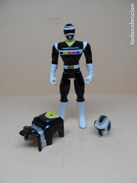 Figuras y Muñecos Power Rangers: POWER RANGERS IN SPACE LUNAR BLACK RANGER 1998 BANDAI - Foto 2 - 122191115
