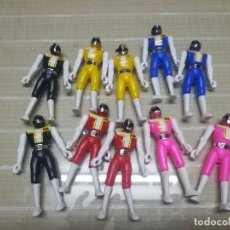Figuras y Muñecos Power Rangers: LOTE DE 10 POWER RANGER DE PLÁSTICO MIREN FOTOS. Lote 123284319