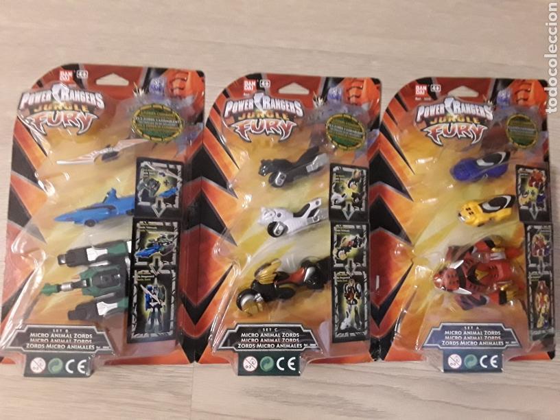 LOTE 3 FIGURAS POWER RANGERS TRANSFORMABLES. APROVECHÉ ESTA OPORTUNIDAD. (Juguetes - Figuras de Acción - Power Rangers)