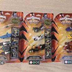 Figuras y Muñecos Power Rangers: LOTE 3 FIGURAS POWER RANGERS TRANSFORMABLES. APROVECHÉ ESTA OPORTUNIDAD.. Lote 129750138