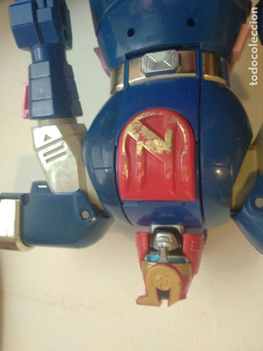 Figuras y Muñecos Power Rangers: Muñeco de bandai 95 Power Rangers deluxe auto-morphin ninjor megazord 1995 - Foto 3 - 130130803