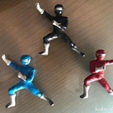 Figuras y Muñecos Power Rangers: LOTE ANTIGUAS FIGURAS GOMA PVC POWER RANGERS . Lote 131401310