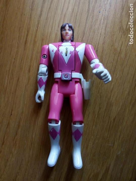 FIGURA POWER RANGER ROSA BANDAI CABEZA MOVIBLE (Juguetes - Figuras de Acción - Power Rangers)