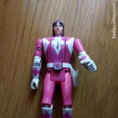 Figuras y Muñecos Power Rangers: FIGURA POWER RANGER ROSA BANDAI CABEZA MOVIBLE. Lote 131608674