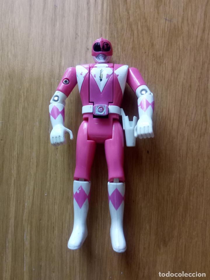 Figuras y Muñecos Power Rangers: FIGURA POWER RANGER ROSA BANDAI CABEZA MOVIBLE - Foto 2 - 131608674