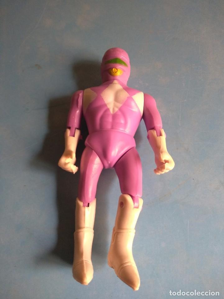 POWER RANGERS MUÑECO ROSA AÑOS 90,NO LLEVA MARCA (Juguetes - Figuras de Acción - Power Rangers)