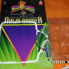 Figuras y Muñecos Power Rangers: CARTÓN BLISTER POWER RANGER NINJA AZUL - BANDAI DISCO DE FUEGO. Lote 133141522