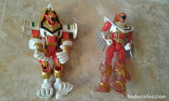 Figuras y Muñecos Power Rangers: Lote Power Rangers, Dragon Red Xtrem Mystic Force y dos figuras, Legendary Lion y Legendary Phoenix - Foto 7 - 134515390
