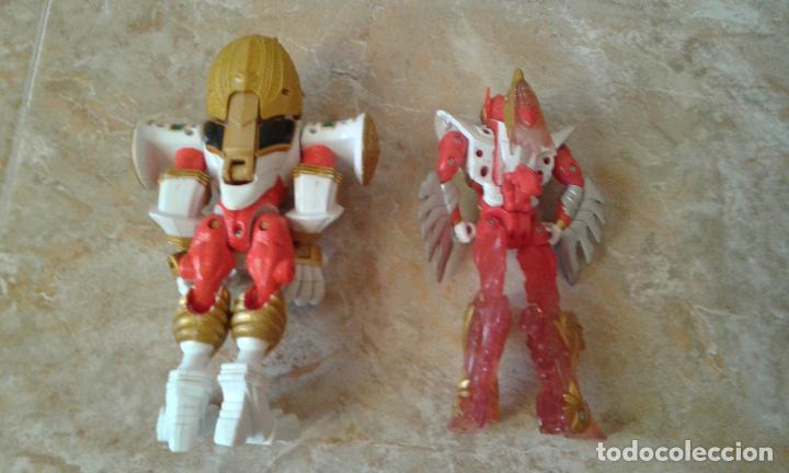 Figuras y Muñecos Power Rangers: Lote Power Rangers, Dragon Red Xtrem Mystic Force y dos figuras, Legendary Lion y Legendary Phoenix - Foto 8 - 134515390