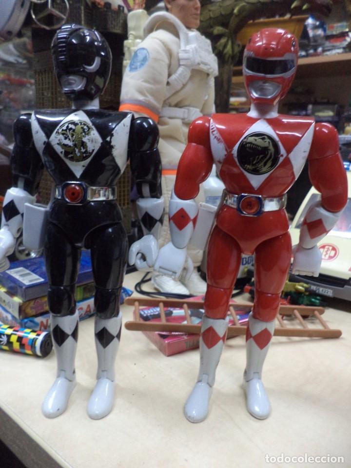 LOTE POWER RANGER ROJO Y NEGRO.BANDAI 1993.1ªSERIE. (Juguetes - Figuras de Acción - Power Rangers)