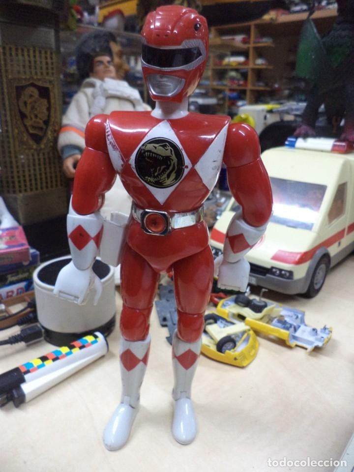 Figuras y Muñecos Power Rangers: Lote Power Ranger Rojo y Negro.Bandai 1993.1ªSerie. - Foto 3 - 139114930