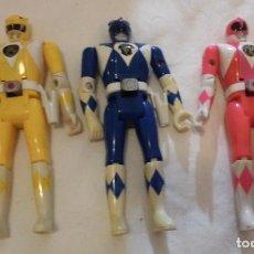 Figuras y Muñecos Power Rangers: MIGHTY MORPHIN POWER RANGERS AUTO MORPHIN. LOTE 3 FIGURAS DE 14 CM. BANDAI 1993 (PRIMERA GENERACIÓN). Lote 139224314