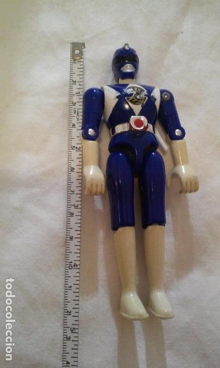 FIGURA POWER RANGERS AZUL -BILLY- 11,5 CM. BANDAI AÑO 1993 (Juguetes - Figuras de Acción - Power Rangers)