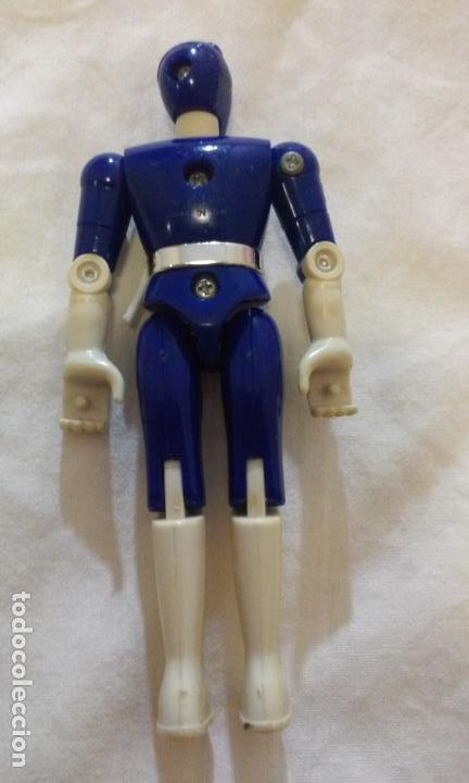 Figuras y Muñecos Power Rangers: FIGURA POWER RANGERS AZUL -BILLY- 11,5 CM. BANDAI AÑO 1993 - Foto 4 - 139227558