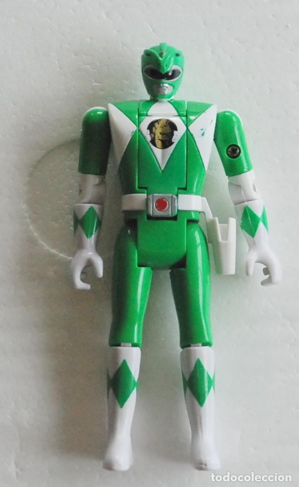FIGURA POWER RANGERS VERDE AUTO MORPHIN 1993 BANDAI (Juguetes - Figuras de Acción - Power Rangers)