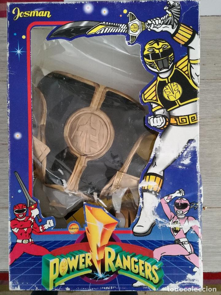 Figuras y Muñecos Power Rangers: POWER RANGERS - JOSMAN - EN SU CAJA ORIGINAL - SABANS - DISFRAZ DE POWER RANGER BLANCO TALLA 9 - COT - Foto 2 - 150724858