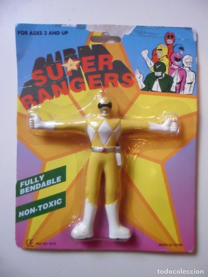 SUPER RANGERS POWER RANGERS FIGURA BOOTLEG BENDABLE FLEXIBLE NUEVA EN BLISTER (Juguetes - Figuras de Acción - Power Rangers)