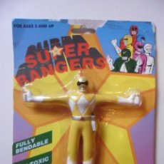 Figuras y Muñecos Power Rangers: SUPER RANGERS POWER RANGERS FIGURA BOOTLEG BENDABLE FLEXIBLE NUEVA EN BLISTER. Lote 147064282