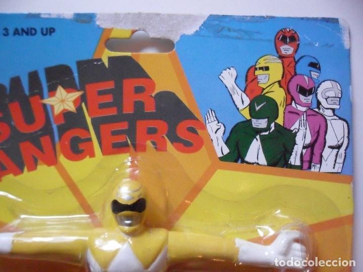 Figuras y Muñecos Power Rangers: SUPER RANGERS POWER RANGERS FIGURA BOOTLEG BENDABLE FLEXIBLE NUEVA EN BLISTER - Foto 4 - 147064282