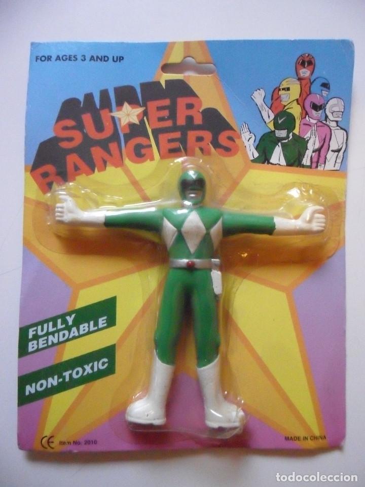 SUPER RANGERS POWER RANGERS FIGURA BOOTLEG FLEXIBLE NUEVA EN BLISTER (Juguetes - Figuras de Acción - Power Rangers)